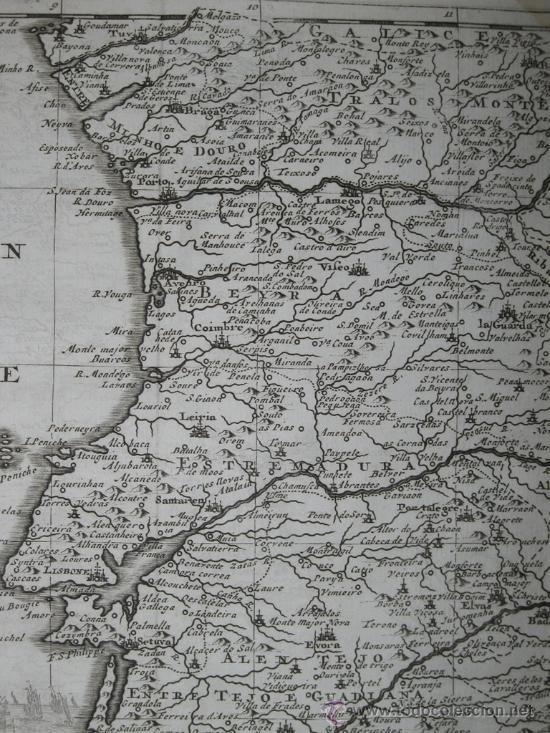 Arte: Mapa de Portugal de Pieter Van der Aa, 1729 - Foto 5 - 24398348