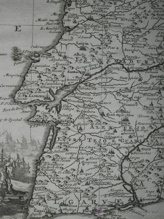 Arte: Mapa de Portugal de Pieter Van der Aa, 1729 - Foto 7 - 24398348