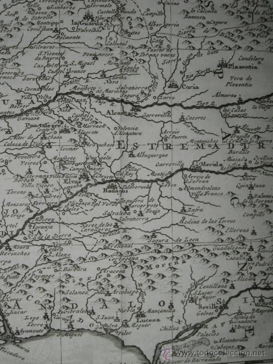 Arte: Mapa de Portugal de Pieter Van der Aa, 1729 - Foto 8 - 24398348