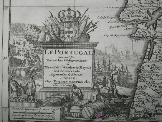 Arte: Mapa de Portugal de Pieter Van der Aa, 1729 - Foto 9 - 24398348