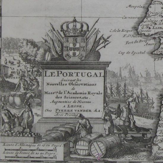 MAPA DE PORTUGAL DE PIETER VAN DER AA, 1729 (Arte - Cartografía Antigua (hasta S. XIX))