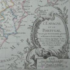 Arte: MAPA DE ESPAÑA Y PORTUGAL DE LOUIS BRION DE LA TOUR, 1790. Lote 24531046