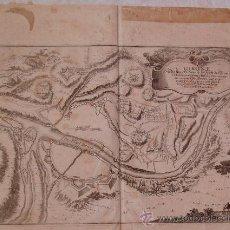 Arte: GIRONA GERONA * CIRCA 1700 * MAPA DEL ASEDIO FRANCES EN 1694 * CONSTRUCCIONES Y DEFENSAS MILITARES. Lote 24711268