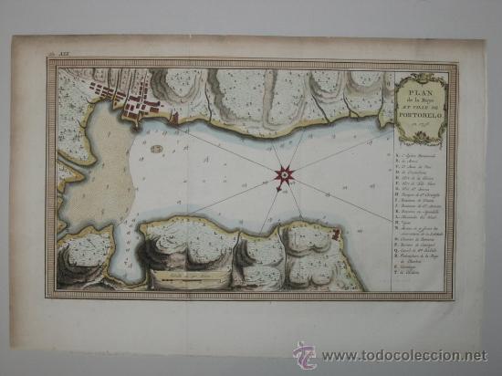 Arte: Mapa de la bahía de Portobelo (Panamá) de Bellin, 1757 - Foto 2 - 25125565