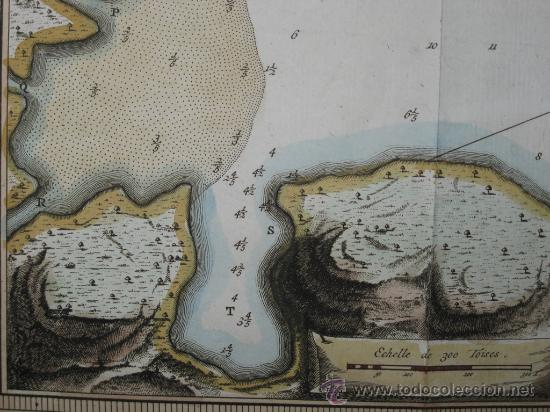 Arte: Mapa de la bahía de Portobelo (Panamá) de Bellin, 1757 - Foto 6 - 25125565