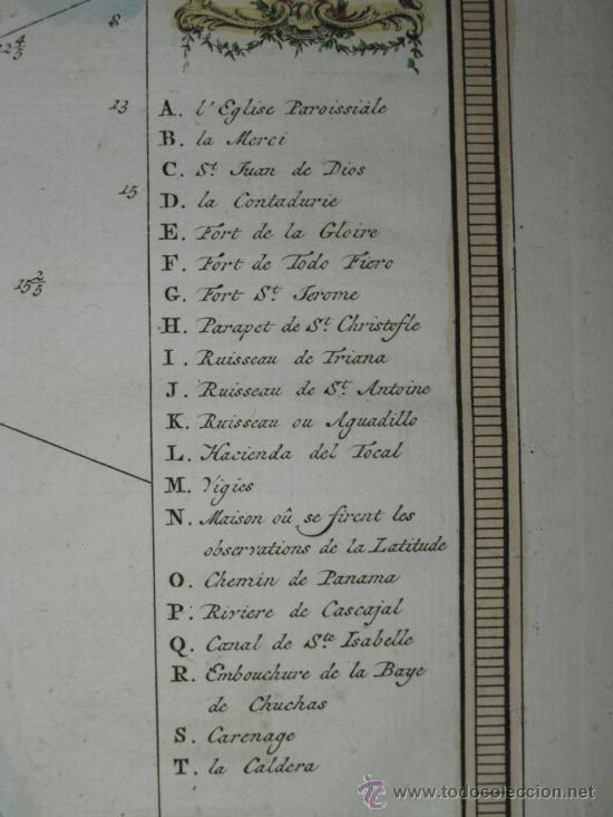 Arte: Mapa de la bahía de Portobelo (Panamá) de Bellin, 1757 - Foto 9 - 25125565