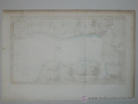 Arte: Mapa de la bahía de Portobelo (Panamá) de Bellin, 1757 - Foto 10 - 25125565