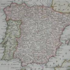 Arte: MAPA DE ESPAÑA Y PORTUGAL DE MOORE, 1778. Lote 26024910