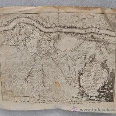 Arte: IMPORTANTE MAPA DE LLEIDA DEL AÑO 1707. Lote 28065670
