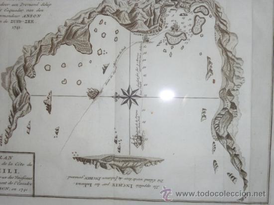 BELLIN, J.N.. PLAN D'UNE BAYE ET D'UN HAVRE SUR LA CÔTE DU CHILI DANS LA MER DU SUD (Arte - Cartografía Antigua (hasta S. XIX))
