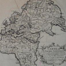 Arte: MAPA DEL HEMISFERIO ESTE, VAUGONDY, 1749. Lote 28469644
