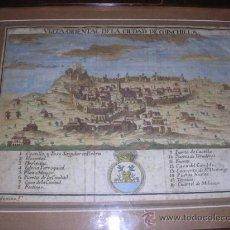 Arte: CHINCHILLA ALBACETE VISTA ORIENTAL DE LA CIUDAD, 1778 ATLANTE ESPAÑOL ESPINALT PALOMINO GRABADO ORIG. Lote 28494075