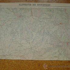 Arte: 1928 PRIMERA EDICION DEL MAPA DE CASTEJON DE MONEGROS DEL MAPA TOPOGRAFICO NACIONAL E 1:50000. Lote 28803467