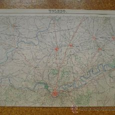 Arte: 1934 SEGUNDA EDICION DEL MAPA DE TOLEDO DEL MAPA TOPOGRAFICO NACIONAL E 1:50000. Lote 28803543