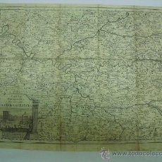 Arte: 1740 CARTA GEOGRAFICA DE LA ISOLA DE FRANCIA GIROLAMO ALBRIZZI. Lote 28931345