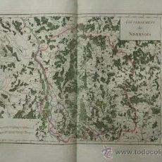 Arte: GOUVERNEMENT DE NIVERNOIS. MENTELLE (E.) ET CHANLAIRE (P. G.). Lote 29257483