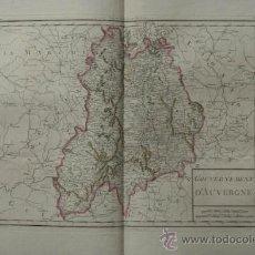 Arte: GOUVERNEMENT D'AUVERGNE. MENTELLE (E.) ET CHANLAIRE (P. G.). Lote 29257508