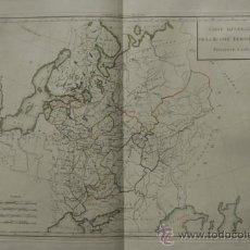 Arte: CARTE GÉNÉRALE DE LA RUSSIE EUROPÉENNE. MENTELLE (E.) ET CHANLAIRE (P. G.). Lote 29257585