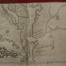 Arte: PLAN OF THE COUNTRY AND CAMPS OF ALMANAR, THE ONE UNDER CHARLES III AND THE OTHER OF THE ENEMY .... Lote 29257631