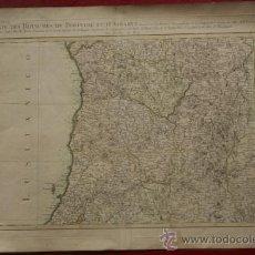 Arte: CARTE DES ROYAUMES DE PORTUGAL ET D'ALGARVE DRESSÉE SUR LES MÉMOIRES TOPOGRAPHIQUES DE..... Lote 29257696