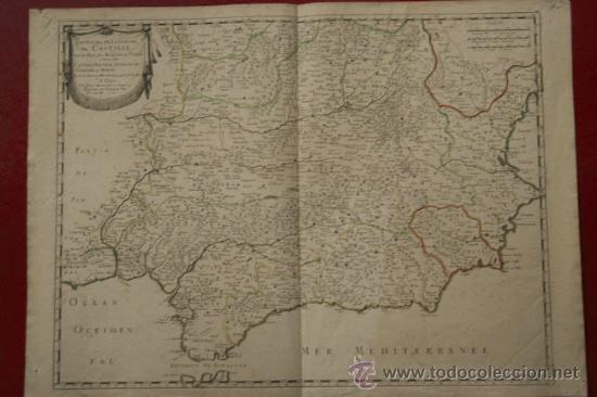 LES ETATS DE LA COURONNE DE CASTILLE, DANS LES PARTIES PLUS MÉRIDIONALES DE L'ESPAGNE ET LÀ OÙ ... (Arte - Cartografía Antigua (hasta S. XIX))