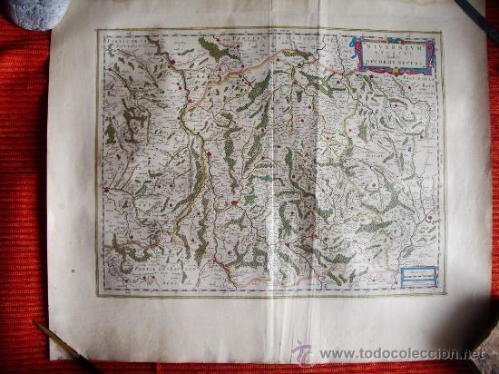 1635-MAPA ORIGINAL BLAEU.BOURGOGNE.MORVANT. BOURGES.LAUXER.BOURBON.BERRY.FRANCIA.FRANCE (Arte - Cartografía Antigua (hasta S. XIX))