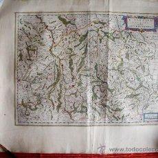 Arte: 1635-MAPA ORIGINAL BLAEU.BOURGOGNE.MORVANT. BOURGES.LAUXER.BOURBON.BERRY.FRANCIA.FRANCE. Lote 29295121
