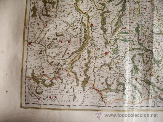 Arte: 1635-MAPA ORIGINAL BLAEU.BOURGOGNE.MORVANT. BOURGES.LAUXER.BOURBON.BERRY.FRANCIA.FRANCE - Foto 5 - 29295121