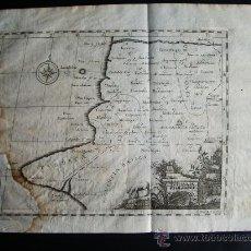 Arte: 1756-MAPA PROVINCIA BAETICA. SALAMANCA.PLASENCIA.CÁCERES. MÉRIDA.BADAJOZ.ORIGINAL.. Lote 29474128
