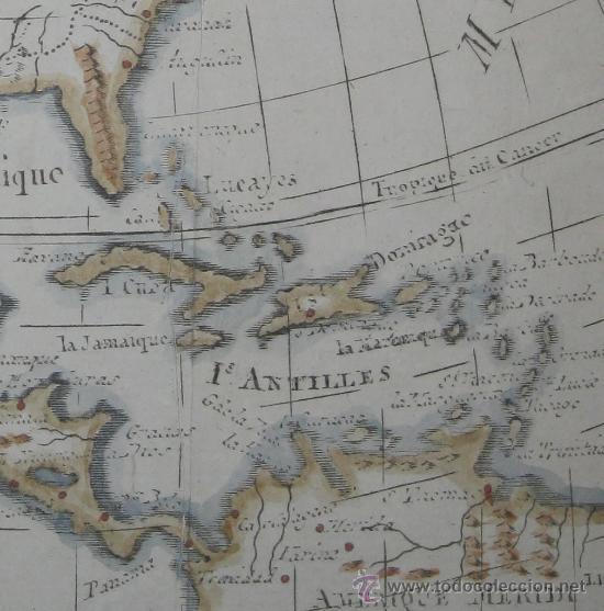 Arte: Mapa de Norteamérica, Vaugondy, 1782 - Foto 6 - 29650974