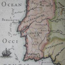 Arte: MAPA DE PORTUGAL, MALLET, 1683. Lote 29650993