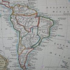 Arte: MAPA DE SUDAMÉRICA, KITCHIN, 1769. Lote 29650998
