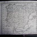 Arte: 1781-MAPA ESPAÑA Y PORTUGAL. ORIGINAL. JAMES MACGOWAN. LONDRES. Lote 29795427
