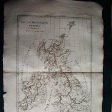 Arte: 1787- MAPA DE INGLATERRA.ISLAS BRITÁNICAS.LONDRES.MANCHESTER. BONNE. ORIGINAL. Lote 29903648