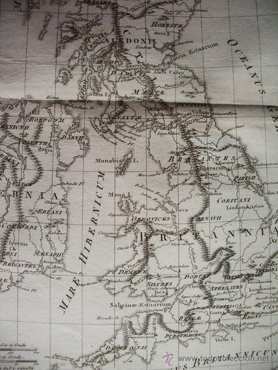 Arte: 1787- MAPA DE INGLATERRA.ISLAS BRITÁNICAS.LONDRES.MANCHESTER. BONNE. ORIGINAL - Foto 3 - 29903648