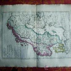 Arte: 1787- MAPA DE SUECIA.DINAMARCA.NORUEGA. SVERIGE.DANMARK.NORGE.BONNE. ORIGINAL. Lote 29903746