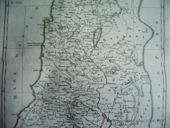 Arte: 1787- MAPA DE JUDEA.JERUSALÉM.SAMARIA.NAZARETH.12 TRIBUS ISRAEL. BONNE. ORIGINAL - Foto 3 - 29903857