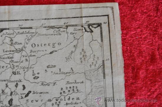 Arte: Antiguo mapa grabado de s.XVIII. Nuova carta della contea di Olanda. Holanda. original. - Foto 5 - 30013634