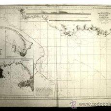 Arte: 1798 - CARTA ESFERICA RIO DE LA PLATA 93X62CM BUENOS AIRES NAUTICAL CHART - MAP. Lote 32457731