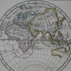 Arte: MAPA DEL HEMISFERIO ESTE, BODENEHR, 1704. Lote 32512669