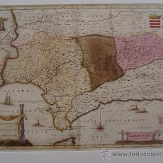 Arte: MAPA DE ANDALUCIA. SEVILLA Y CORDOBA. BLAEU 53X62CM. [1662] . Lote 33106455