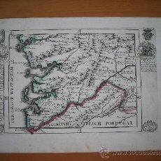 Arte: MAPA SUR DE PONTEVEDRA, VIGO, GALICIA, BODENEHR, 1720. Lote 33407796