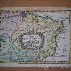 Arte: MAPA NORDESTE BRASIL, NICOLAS SANSON, 1715. Lote 33445069