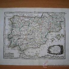 Arte: MAPA DE ESPAÑA, LE ROUGE, 1743. Lote 33445214