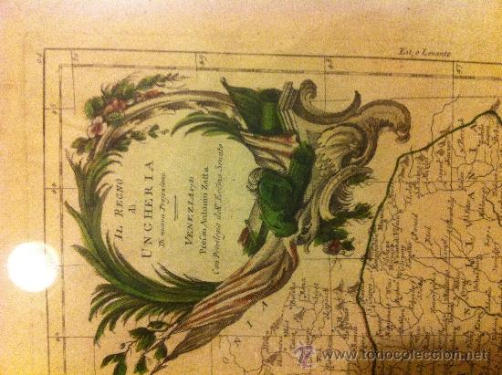 Arte: mapa HUNGRIA de antonio zatta, siglo XVIII - Foto 2 - 34268572