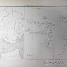Arte: PLANO DE LA BATALLA DE TRAFALGAR. CADIZ. 1864. GRABADO POR CH. DYONNET.. Lote 34498306