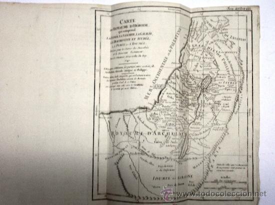 MAPA ANTIGUO SIGLO XVIII (1749). CARTE DU ROYAUME D'HERODE: LA JUDEE, LA SAMARIE... (Arte - Cartografía Antigua (hasta S. XIX))