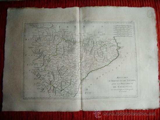 1787-MAPA NAVARRA PAMPLONA TERUEL HUESCA ZARAGOZA TORTOSA TARRAGONA BARCELONA TUDELA ALCAÑIZ BARBAST (Arte - Cartografía Antigua (hasta S. XIX))
