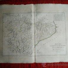 Arte: 1787-MAPA NAVARRA PAMPLONA TERUEL HUESCA ZARAGOZA TORTOSA TARRAGONA BARCELONA TUDELA ALCAÑIZ BARBAST. Lote 34674987