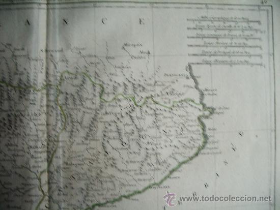 Arte: 1787-MAPA NAVARRA PAMPLONA TERUEL HUESCA ZARAGOZA TORTOSA TARRAGONA BARCELONA TUDELA ALCAÑIZ BARBAST - Foto 3 - 34674987